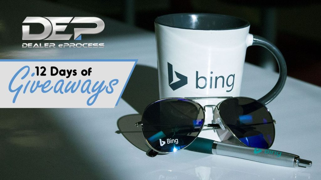 Dealer eProcess 12 Days of Giveaways, Day 7: Bing Swag