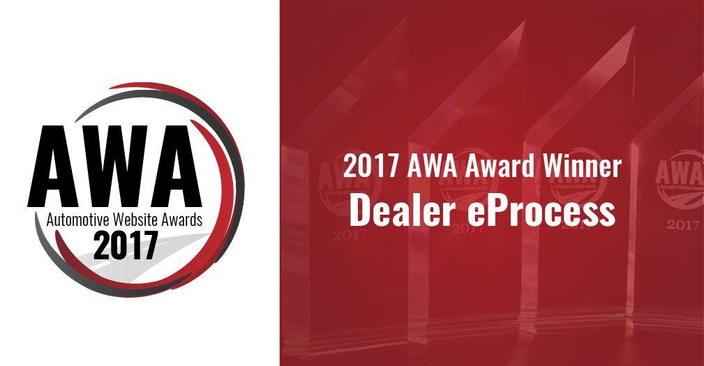 Automotive Website Award Winner - Dealer eProcess