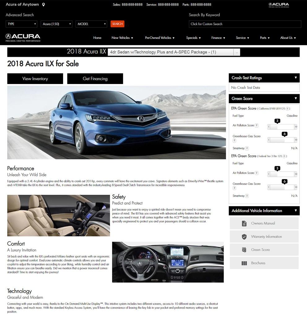 Acura Custom Content