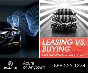 Display ad for Acura dealership