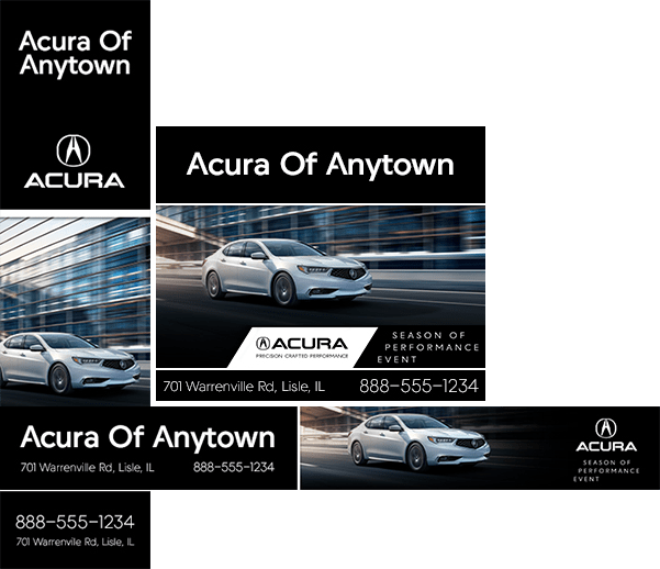 Remarketing ads for Acura website