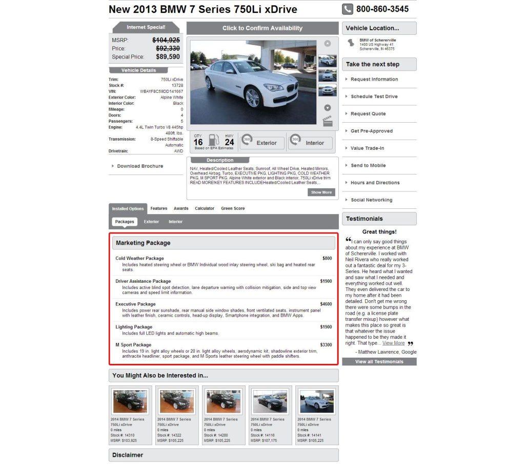 Best Auto Dealer VDP