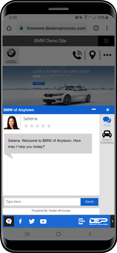 BMW Chat dealer chat window
