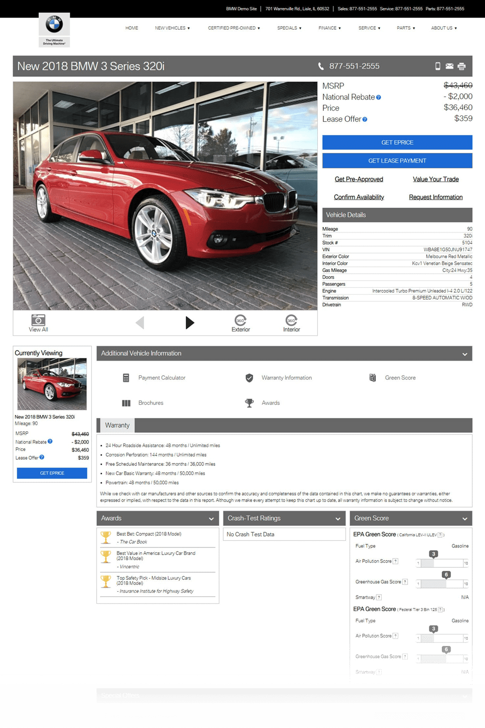 BMW VDP preview image