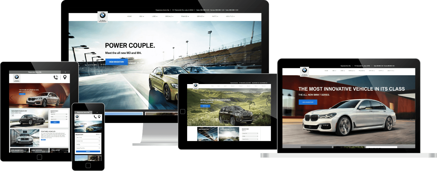 BMW websites on various devices