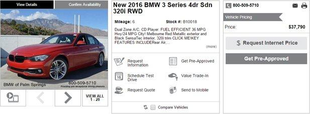BMW vehicle summary