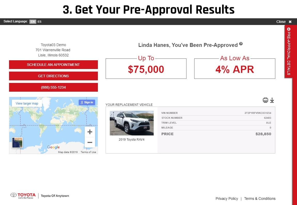 slide 3: get your pre approval results