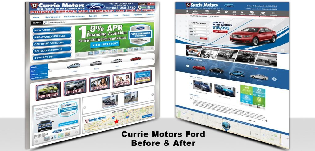 Currie Ford before and after redesign