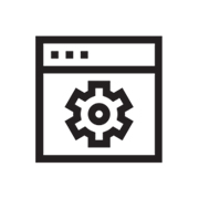 icon of gear symbol on browser page