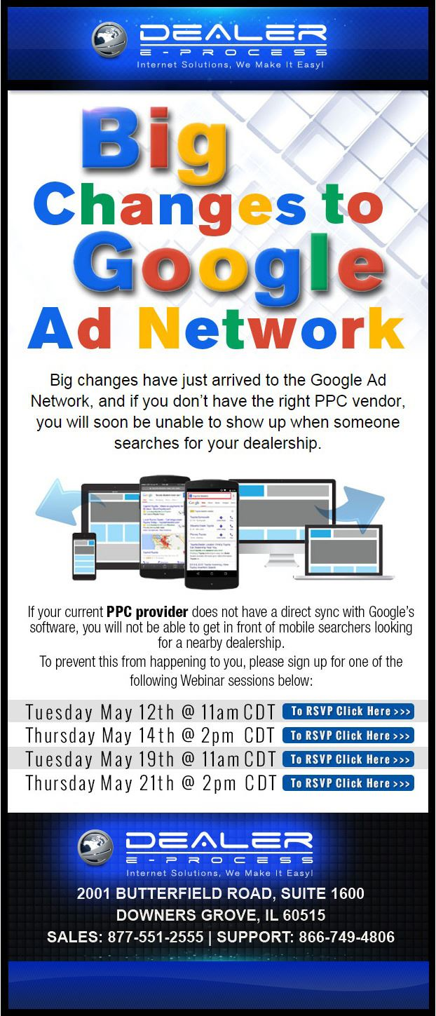 Sign up for the DEP Google Ad Network Webinar