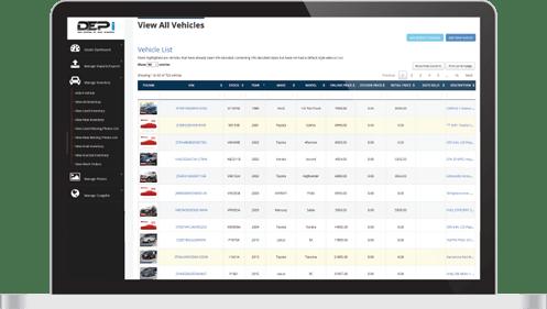 DEPi screen for FCA website