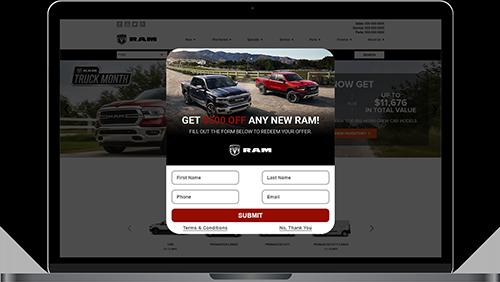 DriveCentive FCA screen