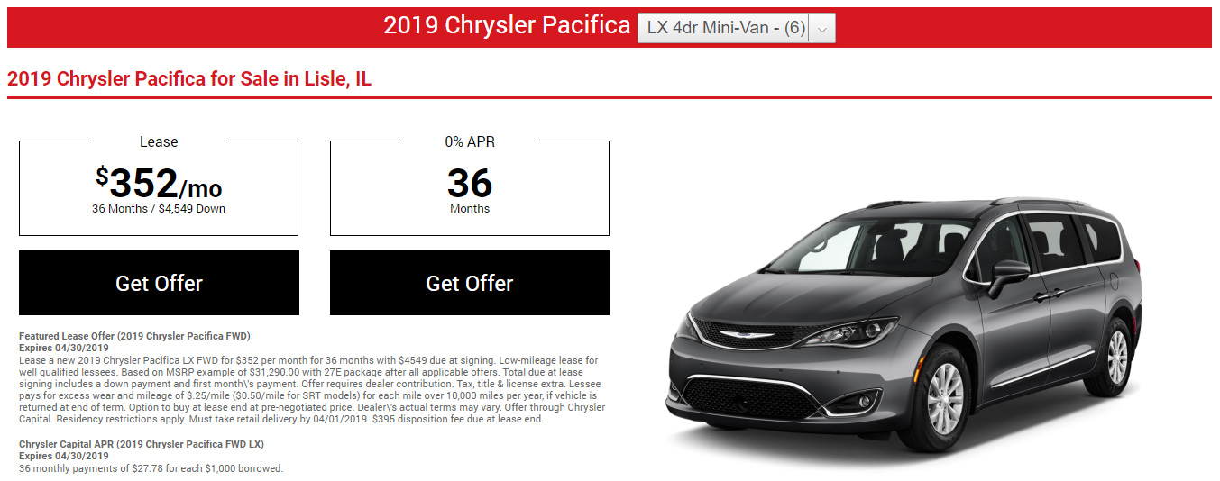 Dynamic lease offer screen image preview
