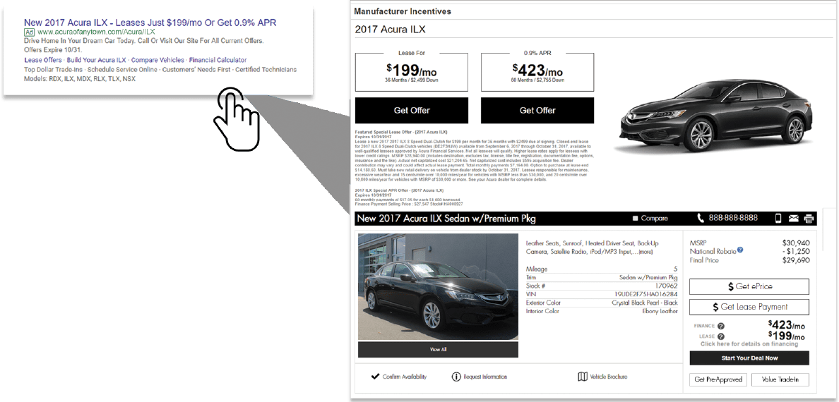 Dynamic Lease offer summary screen