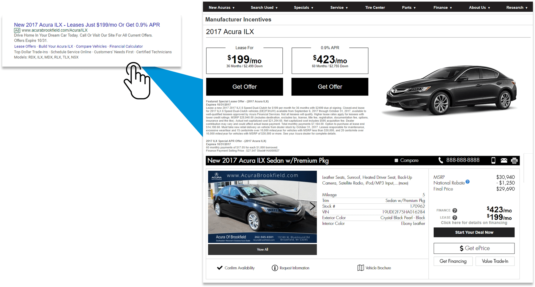 Dynamic Lease Offer pages