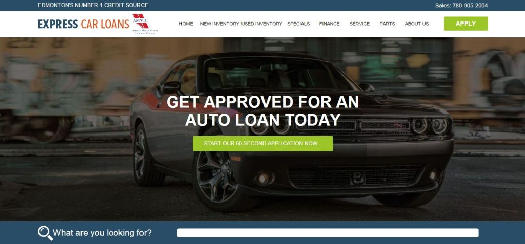 Express Car Loans Homepage