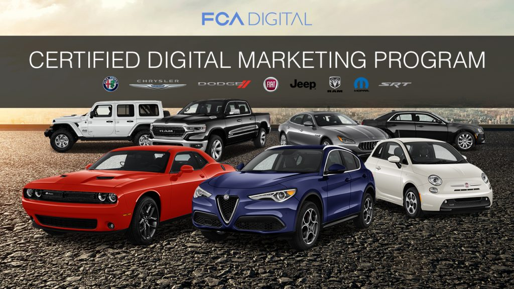 Dealer eProcess is in the FCA Certified Digital Marketing Program