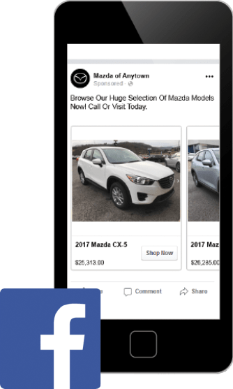 Facebook Advertising displayed on smartphone