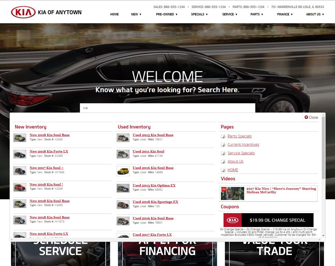 Kia Site Search