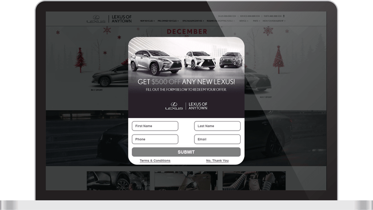 DriveCentive offer on screen