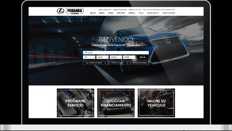 Lexus Spanish website screen