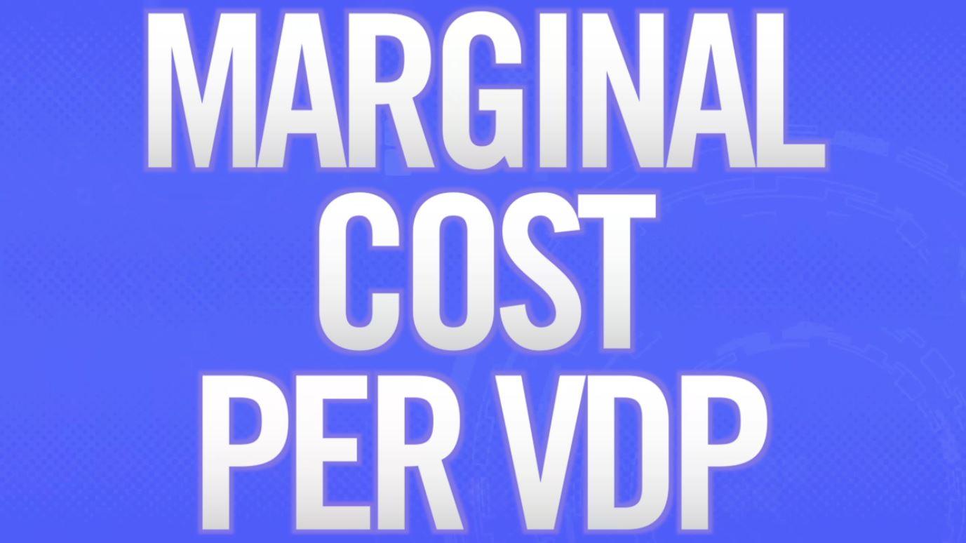 Marginal Cost Per VDP