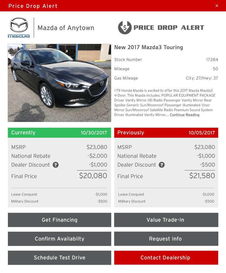 Mazda Price Drop Alert image