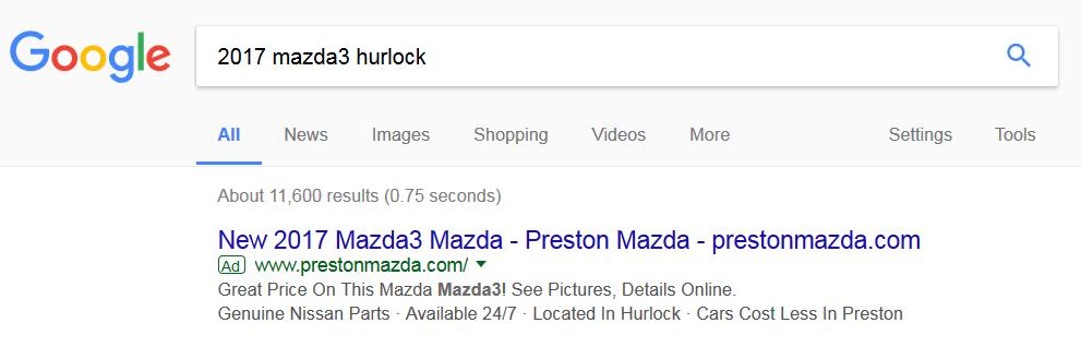 Mazda search results image