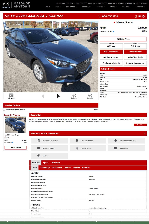 Mazda VDP preview image