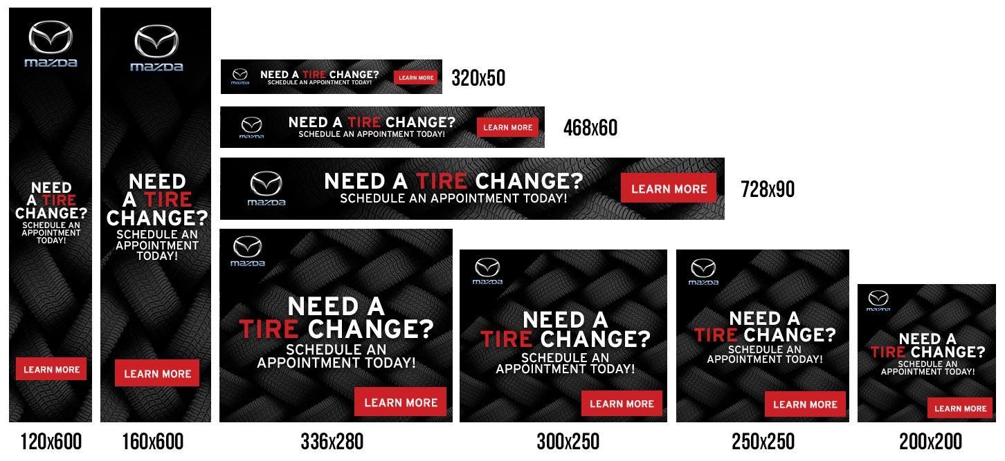 Mazda service banner ads