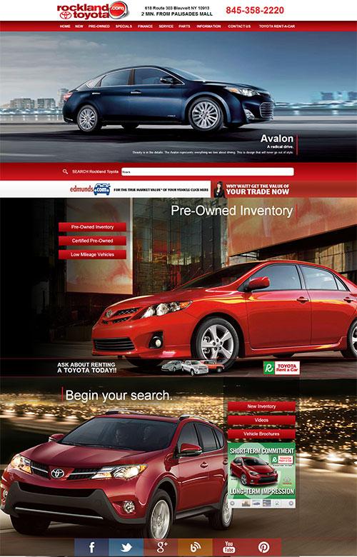 Rockland Toyota website