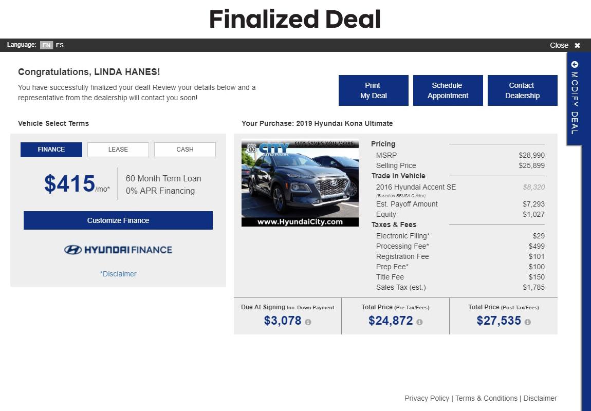 SARA Hyundai slide 10: finalized deal