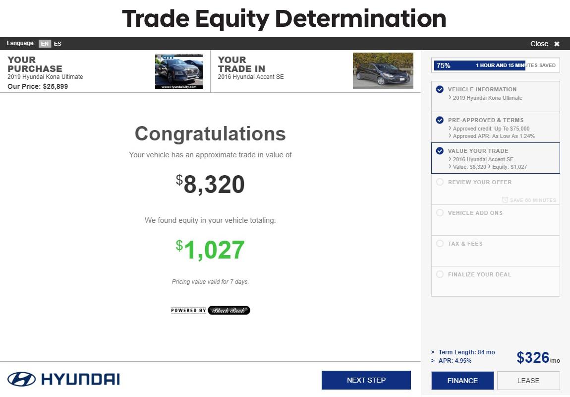 SARA Hyundai slide 7: trade equity determination