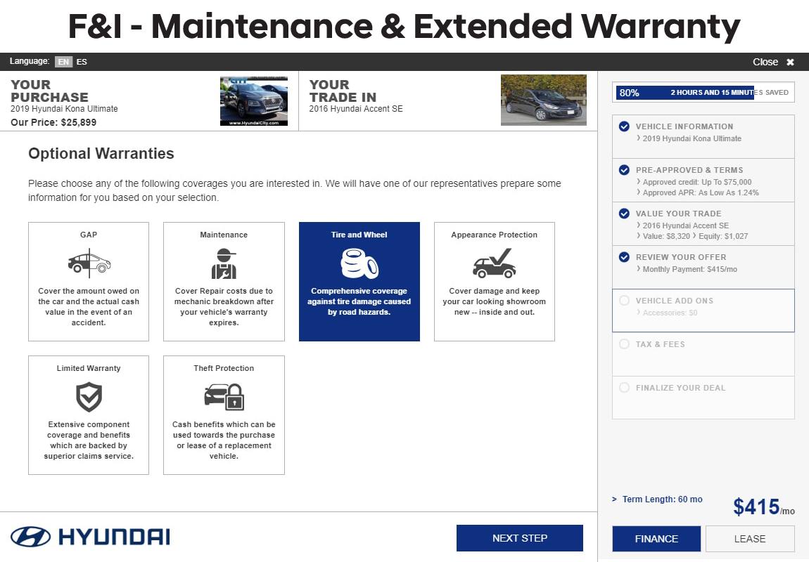 SARA F and I maintenance and extended warranty
