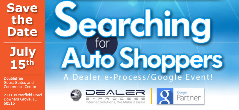 Save the Date: Searching for Auto Shoppers event