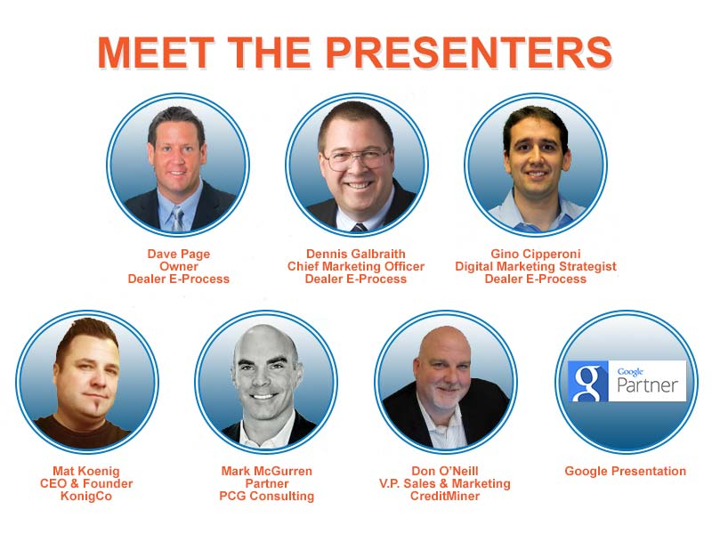 Searching for Auto Shoppers Meet the Presenters