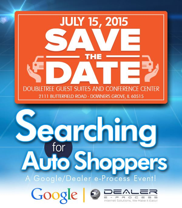Searching for Auto Shoppers, Save the Date eflyer