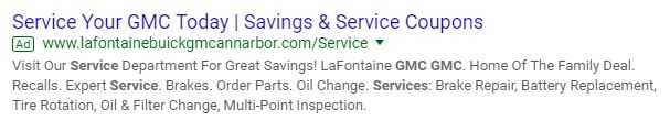 service search ad