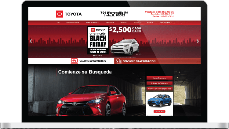 Toyota Spanish website