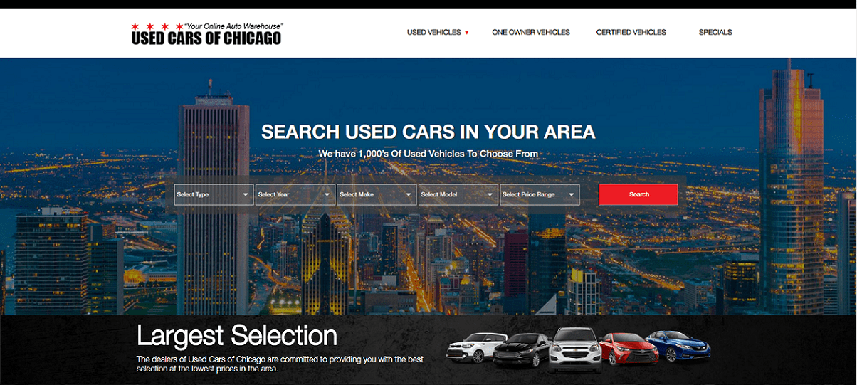 Used Cars Network dealer homepage