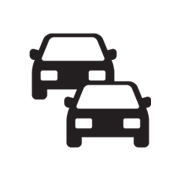 icon showing two cars positioned with front views