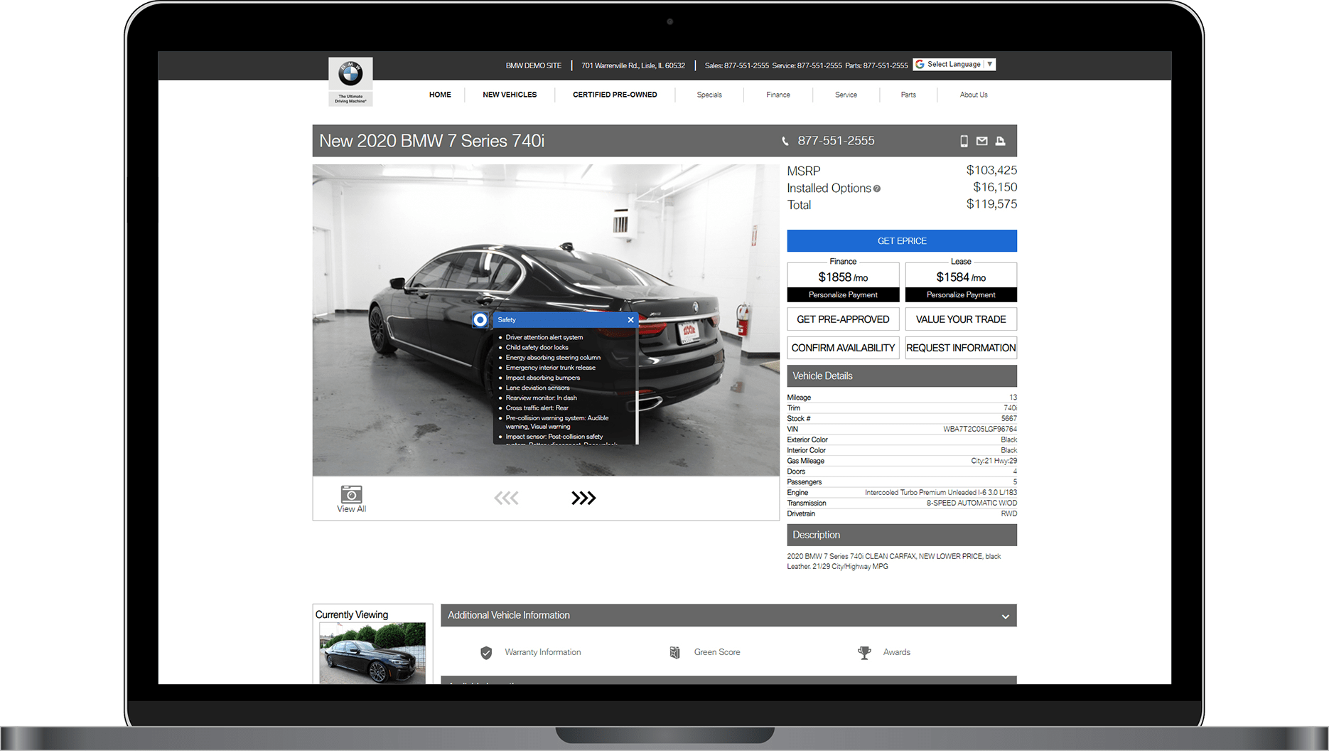 VDP on BMW website