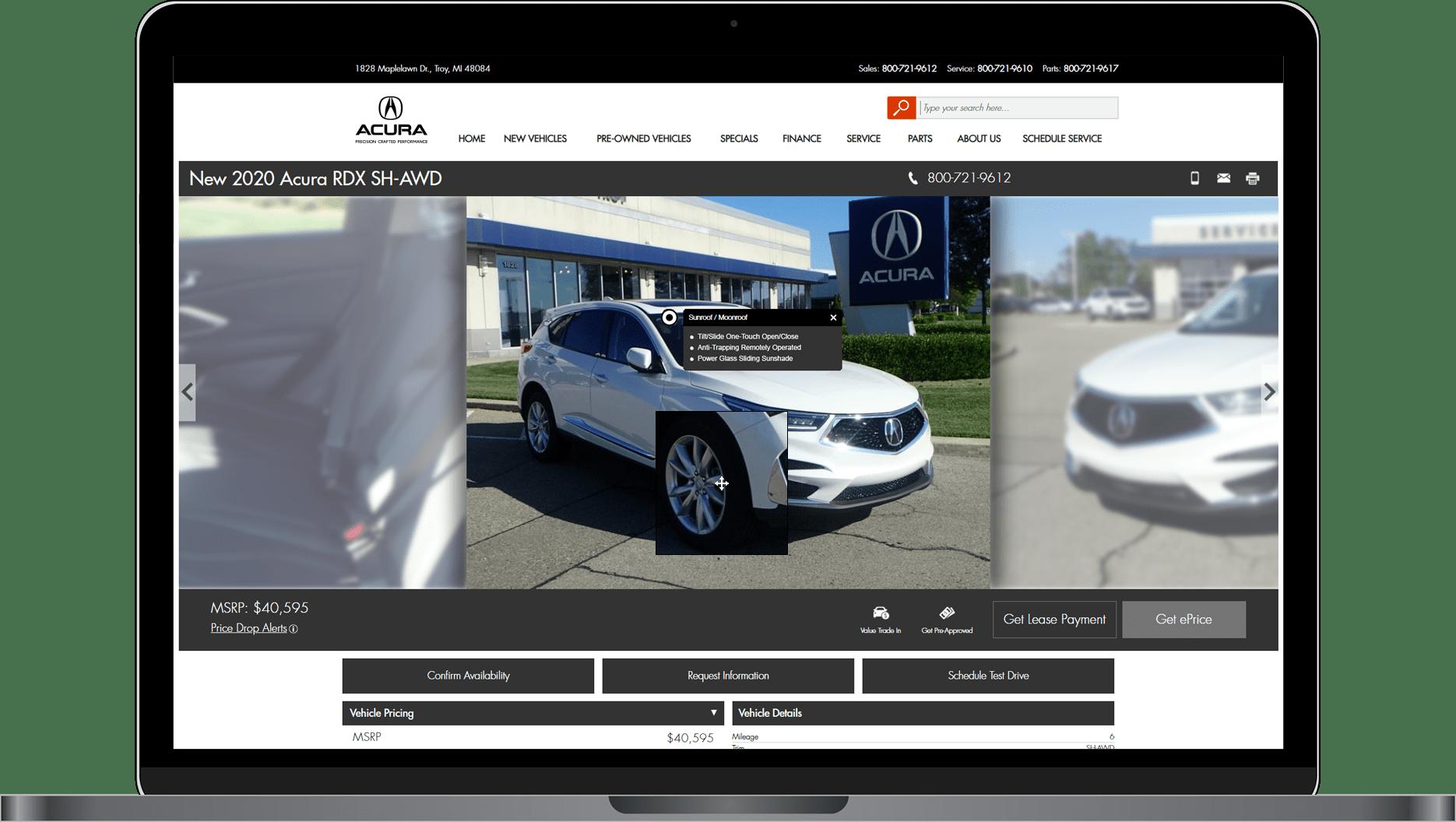 VDPxL image of an Acura RDX