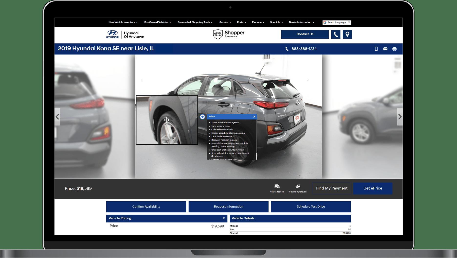 VDPxL shows Hyundai vehicle