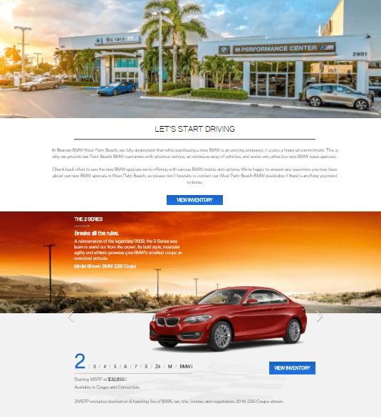 Braman BMW West Palm Beach Series Selector