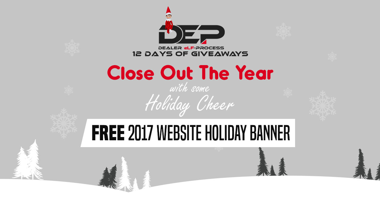 Dealer eProcess 12 Days of Giveways, Day 8: Website Holiday Banner