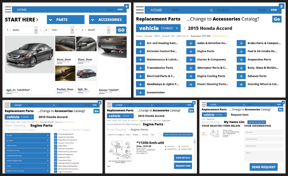 Parts Catalog screen image